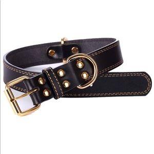 Puppy Leather Dog Collar